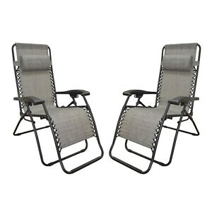 Pleasing Details About Caravan Canopy Grey Infinity Zero Gravity Chair 2 Chaise Outdoor Lounge Patio Alphanode Cool Chair Designs And Ideas Alphanodeonline