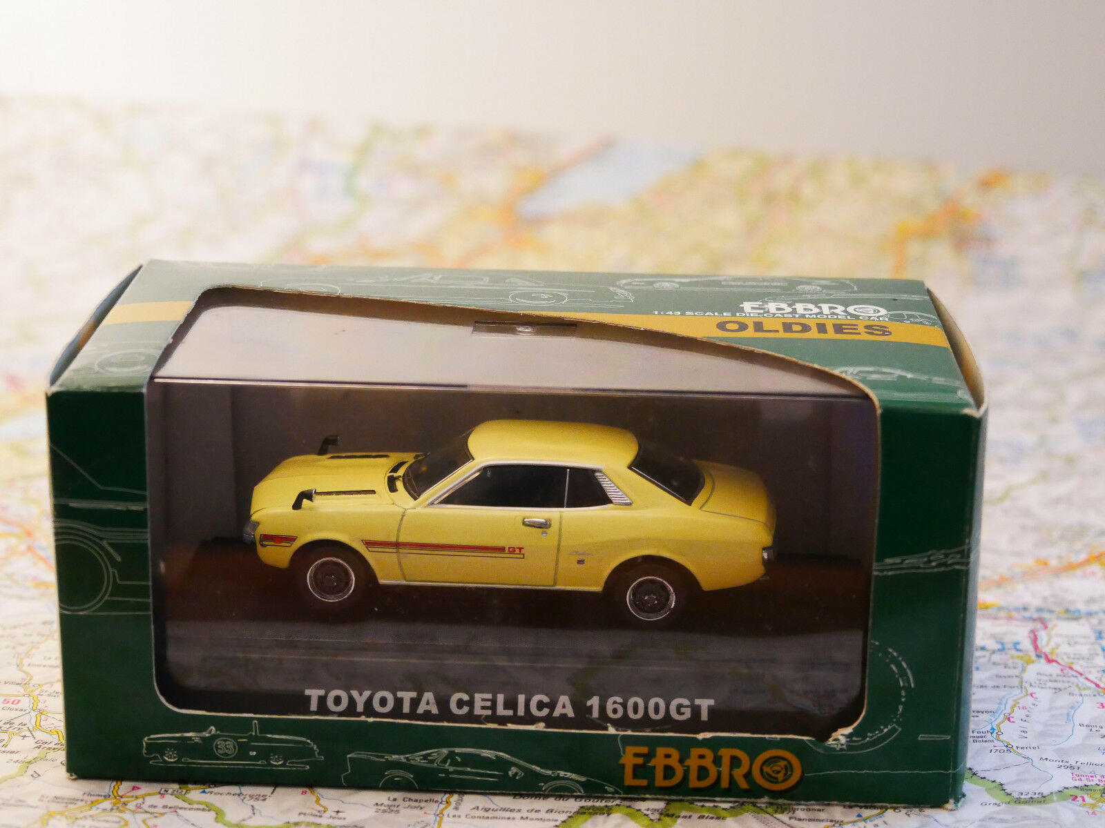 EBBRO Ebbro Toyota Celica 1600 GT  jaune ART.84 NEW DIE-CAST 1 43
