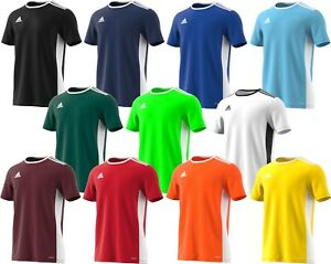 New-Adidas-Entrada-18-Climalite-Gym-Football-Sports-Training-T-Shirt-Top-Jersey