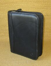 Compact Franklin Covey Black Faux Amp Leather 125 Rings Zip Plannerbinder