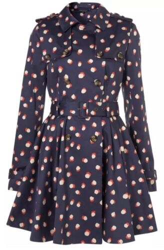 Bælte 6 Smudge Coat 50s Navy Mac Skirted 10 Spot 38 Trench Vtg Topshop Iconic 4wEAnIqI7