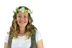 White Edelweiss Flower Festival Garland