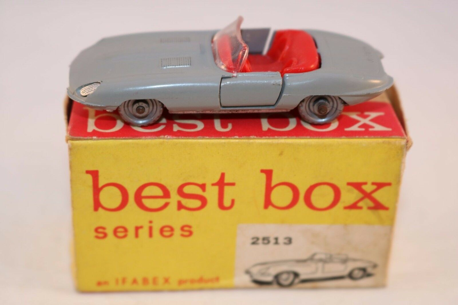 Bestbox Best Box 2513 Jaguar E Type near mint in box very scarce colour gris
