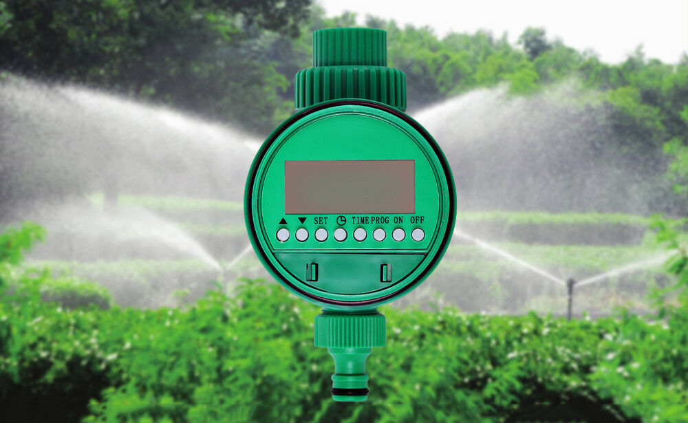LCD Display Automatic Electronic Water Timer Garden Irrigation Controller Soleno