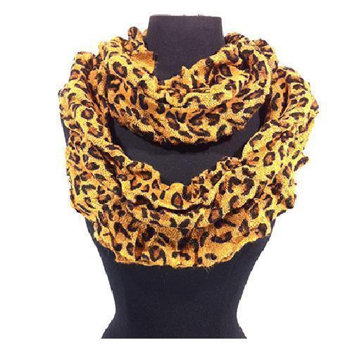 New Women Leopard Animal Print Pashmina Long Soft Scarf Stole Wrap Shawl Cape