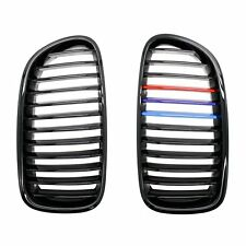 Shinehome Grilles For BMW F10 F11 F18 5 Series Sedan Front M-color Kidney Glossy