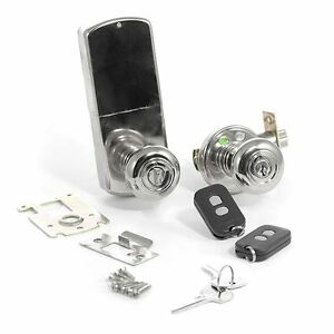 WIRELESS RF Remote Controlled Door Lock DOOR KNOB- SN | eBay