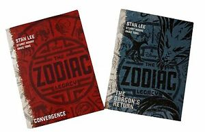 Zodiac-Legacy-2-Books-Convergence-The-Dragon-039-s-Return-by-Stan-Lee-Disney-New
