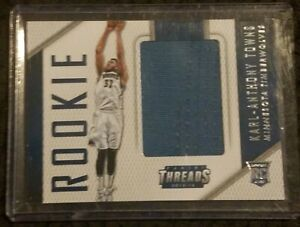 2015-16-Panini-Threads-Rookie-Karl-Anthony-Towns-Timberwolves-Jersey-Card-NBA