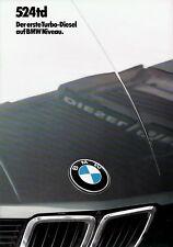 BMW 524td Prospekt 2/83 brochure Auto PKWs Deutschland Europa