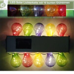 Solar LED Außen Lichterkette mit 50 LEDs warmweiß Solarlichterkette IP44 Draußen