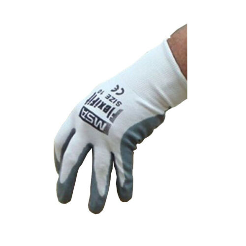 MSA Flexfit Foam Nitrile Lightweight Comfortable Work Gloves WHITE PACK OF 12