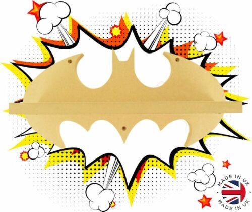 Toupillé 18 mm MDF Qualité Emballé à plat étagère en bois Batman Super-héros Shelf-SH4