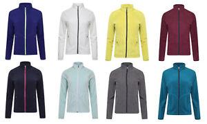 Womens-Ladies-Classic-Full-Zip-Fleece-Jumper-Active-Gym-Running-Fleece-Jacket