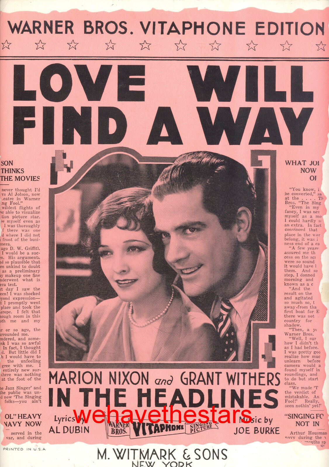 IN THE HEADLINES Sheet Music