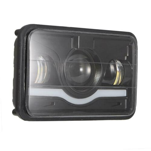 "4/""x6/"" LED Light Bulb Clear Sealed Beam Headlight Headlamp Halo DRL for Honda XR"