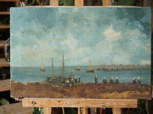 Saint Alban , tableau HST - marine - Le retour des pécheurs