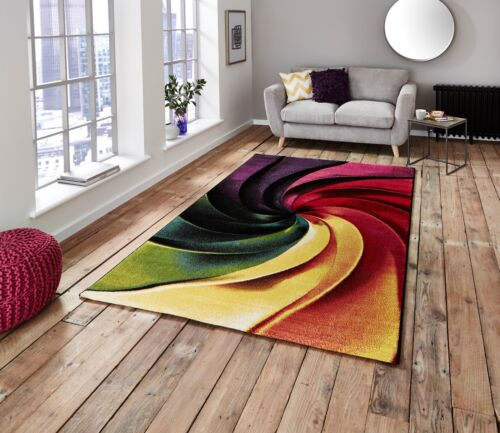 LARGE MODERN RUG HIGH QUALITY BRIGHT MULTI COLOUR  FLOOR CARPET RUGS SIZE M