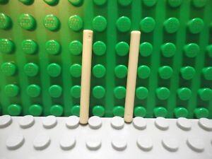Lego mini figure 2 White 4L Wand Stick Bar Lightsaber NEW