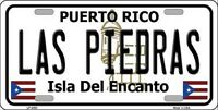 Las Piedras Puerto Rico Novelty State Background Metal License Plate