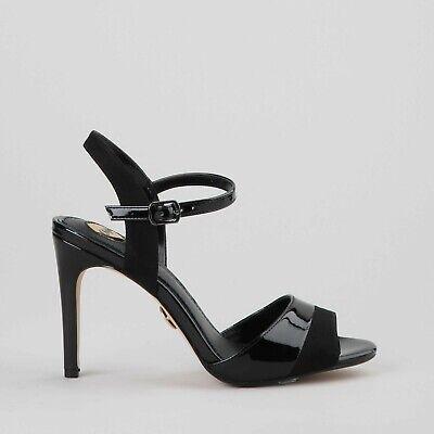 Buffalo Aida Damen Sandaletten Stiletto Absatz High Heels Schwarz Lack Neu Ebay