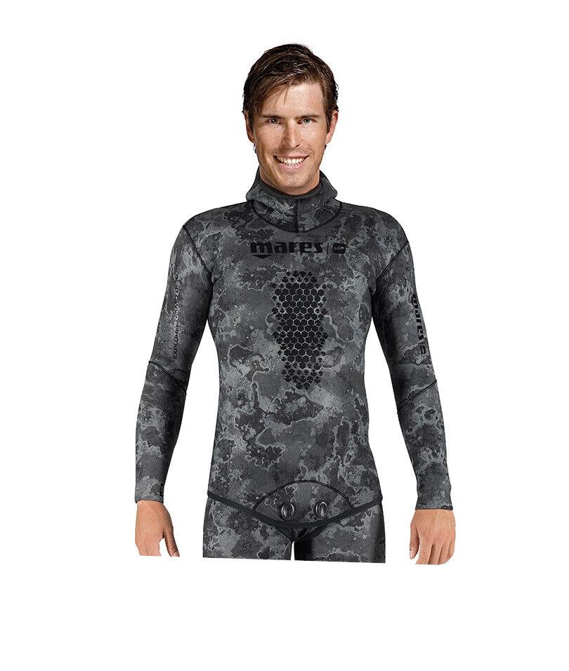 Mares 3mm Explorer Wetsuit (alleen Jasje) Gratisding Scuba Diving --zwart Camo
