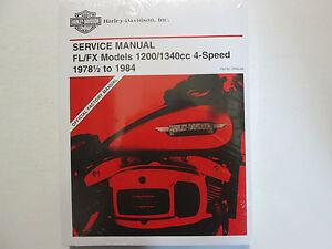 1982-1983-1984-Harley-Davidson-Fl-Fx-Electra-Super-Servicio-Reparar-Manual-Set
