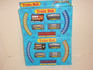 Image Is Loading Train Set Battery Operated Great Christmas Birthday Gift