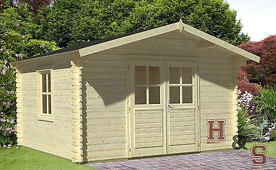 34 mm Gartenhaus Holzhaus Holz Gerätehaus Schuppen Blockhaus Topangebot NEU