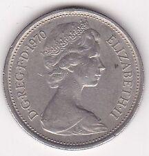 Britain Queen Elizabeth II 5 New Pence Coin - 1970