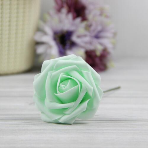 Home Decor Artificial Foam Flowers Bridal Bouquet Wedding Decoration Fake Roses