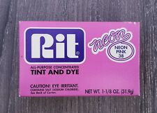NOS Rit Powder Dye Neon Pink #38 ~ Old Formula Rare Retired Color ~ 1-1/8 oz