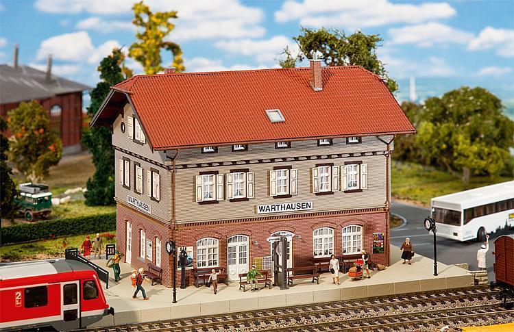 FALLER 110123 Bausatz Lasercut H0 Bahnhof Warthausen