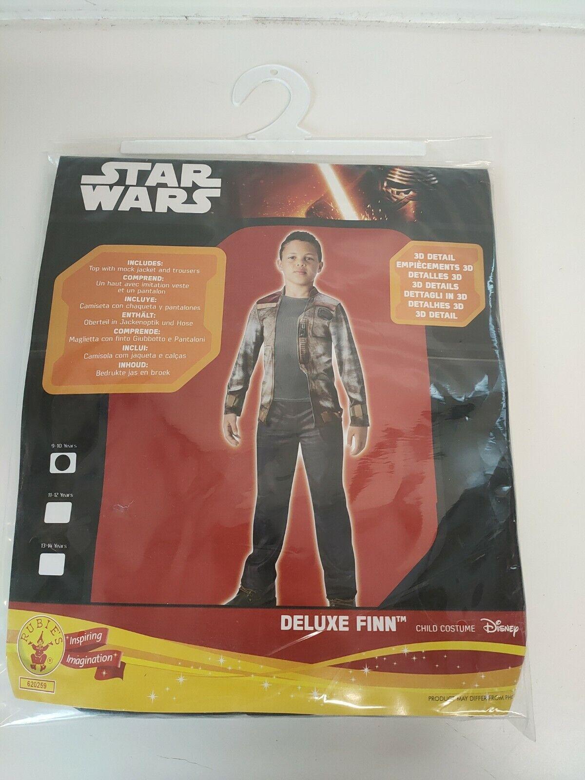 Rubies Star Wars Finn Fancy Dress Child Costume - 9-10 Years