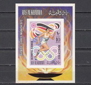 Mi Cat Ehrlich Ras Al Khaima 655 Bl116 B.summer Olympics Imperf S / Blatt Einen Effekt In Richtung Klare Sicht Erzeugen