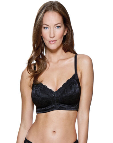 CHARNOS ROSALIND FULL CUP  NON WIRED  BRA BLACK OR WHITE 32 34 36 38 BNWT