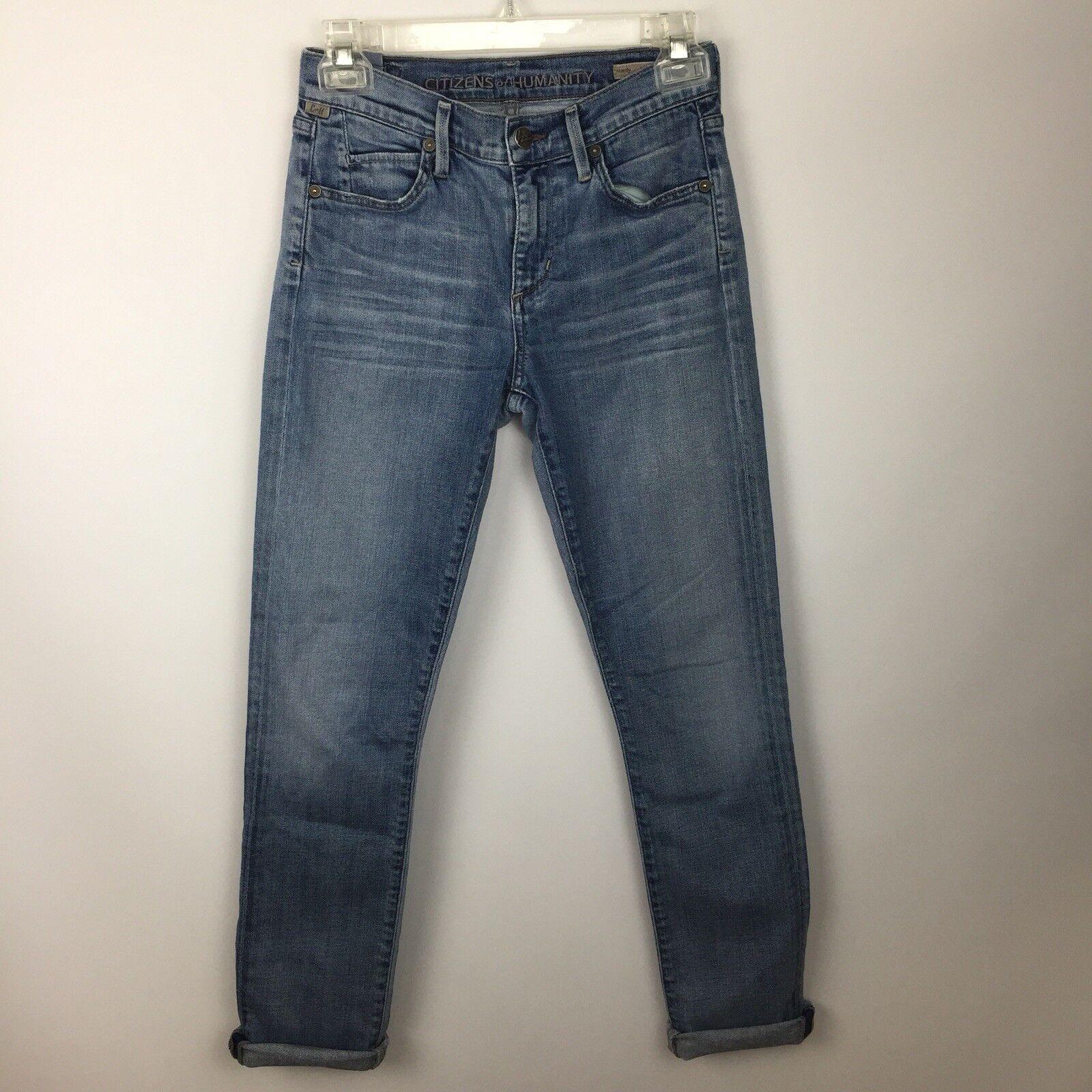 CITIZENS OF HUMANITY Womens Sz 25 Mandy High Waist Retro Slim Jeans Crystal Wash