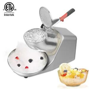 143lbs/h Electric Ice Shaver Machine Snow Cone Maker Crusher Ice Shaving Cold