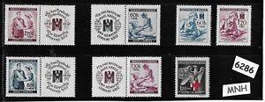 6286-MNH-Stamp-set-German-Occupation-Third-Reich-Red-Cross-amp-Nursing-WWII
