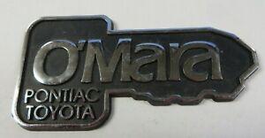 Car Dealerships In Hutchinson Ks >> Details About Vintage O Mara Pontiac Toyota Car Dealership Emblem Tag Metal Hutchinson Kansas