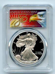 2000-P-1-Proof-American-Silver-Eagle-1oz-PCGS-PR69DCAM-Thomas-Cleveland-Eagle