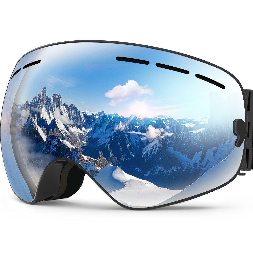 ZIONOR X Ski Snowboard Goggles Spherical Detachable Lens UV Predection  Anti-fog  online shop