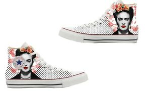 Scarpe-Converse-All-Star-Custom-Frida-Kahlo-artigianali-Made-in-Italy