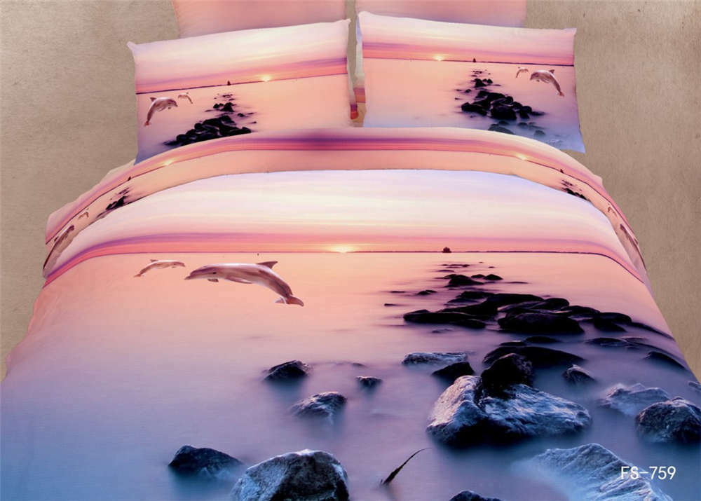 Mist Over Hazy Sea 3D Printing Duvet Quilt Doona Covers Pillow Case Bedding Sets