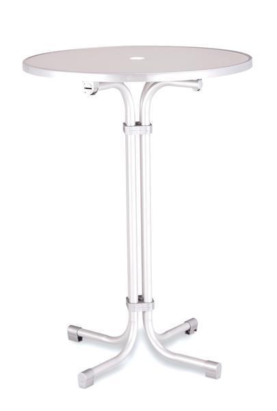 Mesa piCoche expansores Best plegable ø80cm acero blancoo
