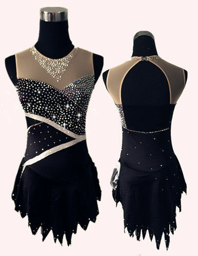 Girl Women latin rumba Ice Skating Dress Competition  Ice Figure Skating Dress  there are more brands of high-quality goods