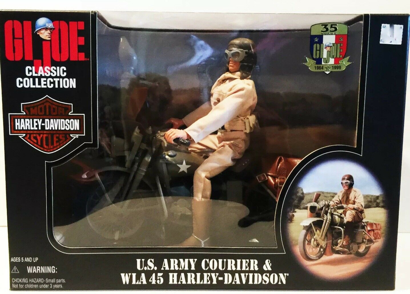 BRAND NEW GI JOE CLASSIC COLLECTION U.S. ARMY COURIER & WLA 45 HARLEY-DAVIDSON