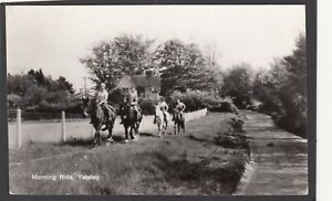 Postcard Yateley nr Fleet in Hampshire horse riding Morning Ride vintage RP