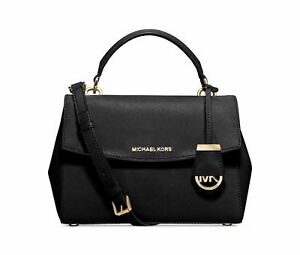 a85d279fb640 Womens Handbag Michael Kors Crossbody Ava Small Leather Satchel Bag ...