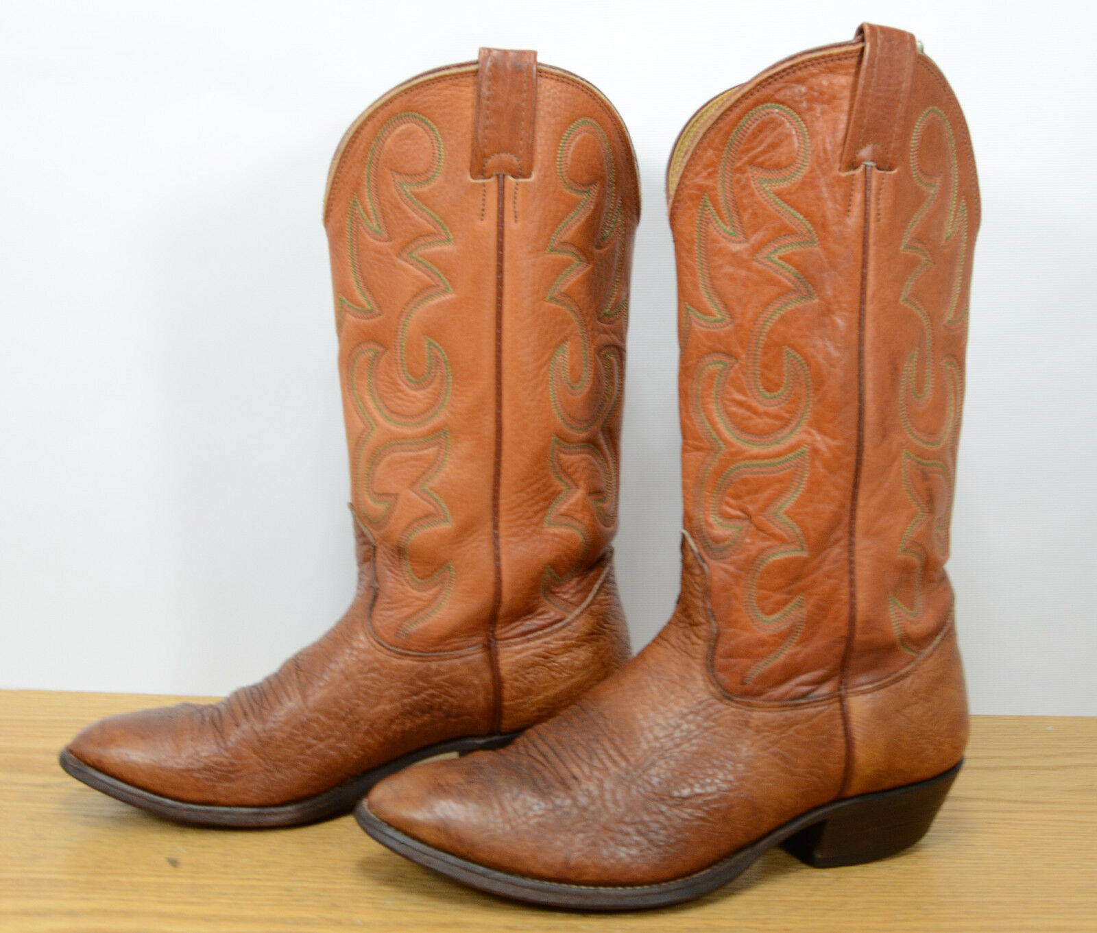 Nocona USA Mens Sz 8 D Leather Tan Western Cowboy Riding Biker Work Stiefel